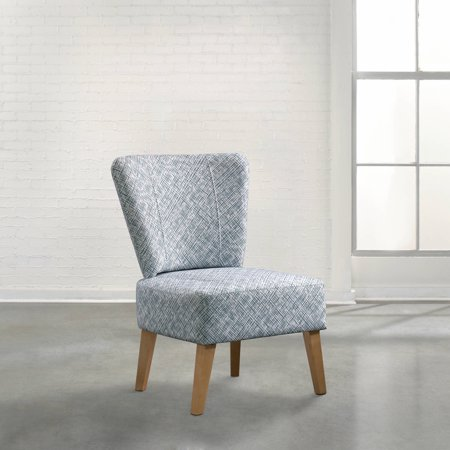 Soft Modern Marley Accent Chair, Blue and White (Sauder 418931 Elwood Accent Chair Blue Medium)