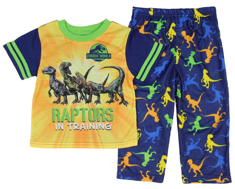 Lego Jurassic World Boys Raptor Trainer Blue Cotton Long Sleeved 2-Pack Pajamas