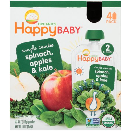 Happy Baby Organics Simple Combos Spinach Apples Kale Baby Food