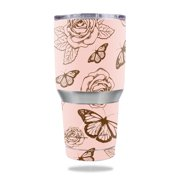 MightySkins Protective Vinyl Skin Decal for Ozark Trail 30 oz Tumbler wrap cover sticker skins Butterfly Garden