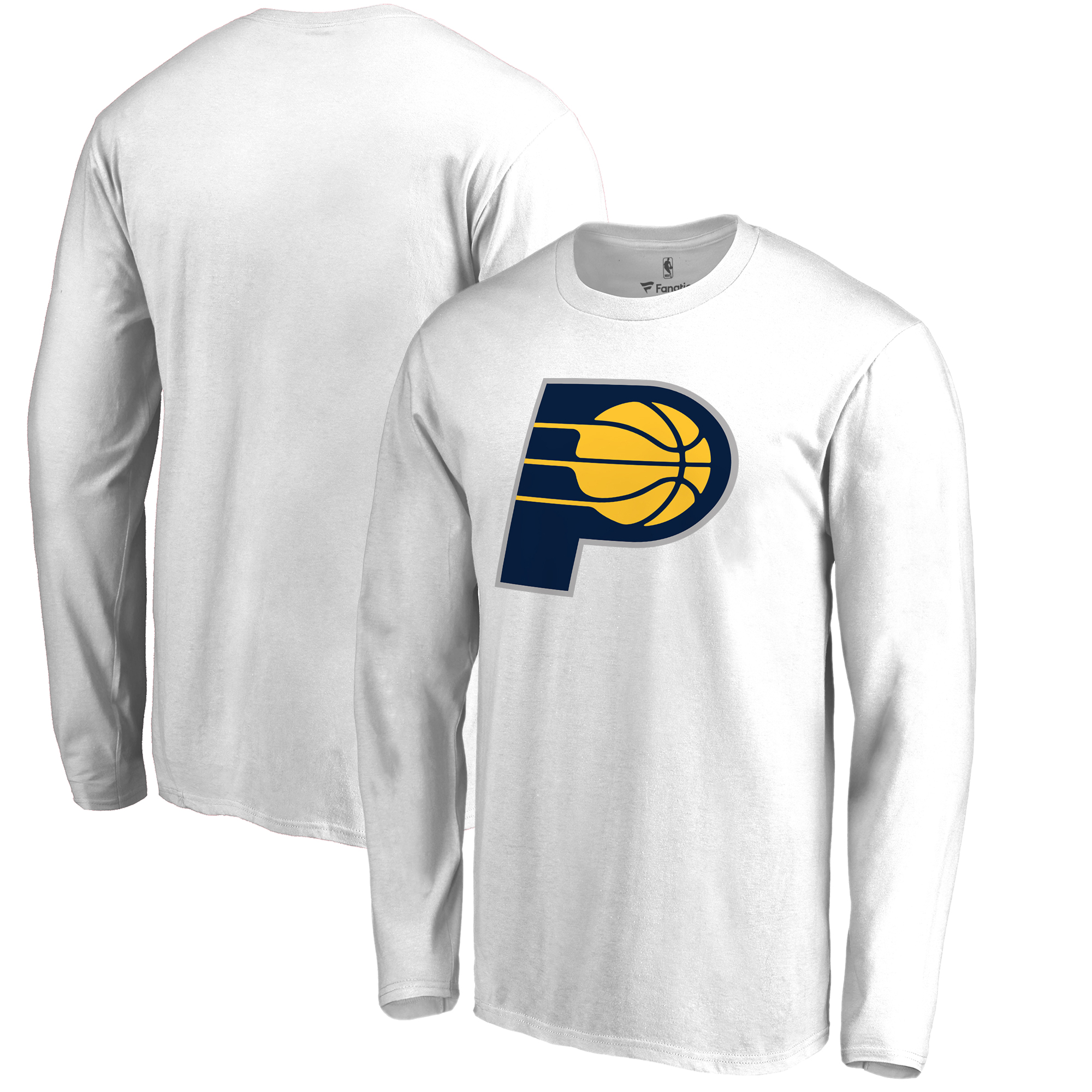 Indiana Pacers Fanatics Branded Big & Tall Team Primary Logo Long Sleeve T-Shirt - White