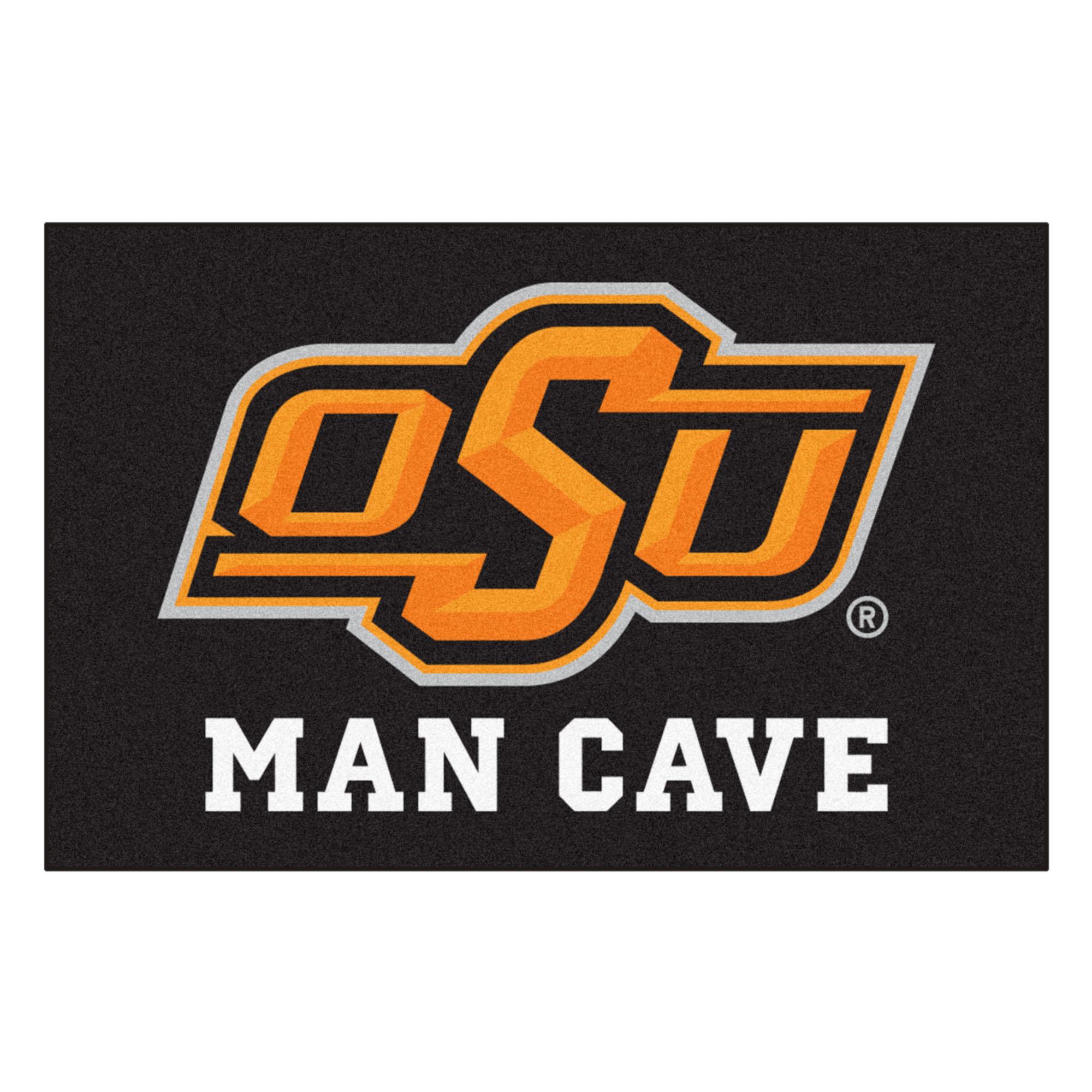 "Oklahoma State Man Cave Starter Rug 19""x30"""