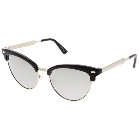 ffec30435b sunglass.la - Women s Cat Eye Sunglasses Horned Rim Half Frame Oval ...