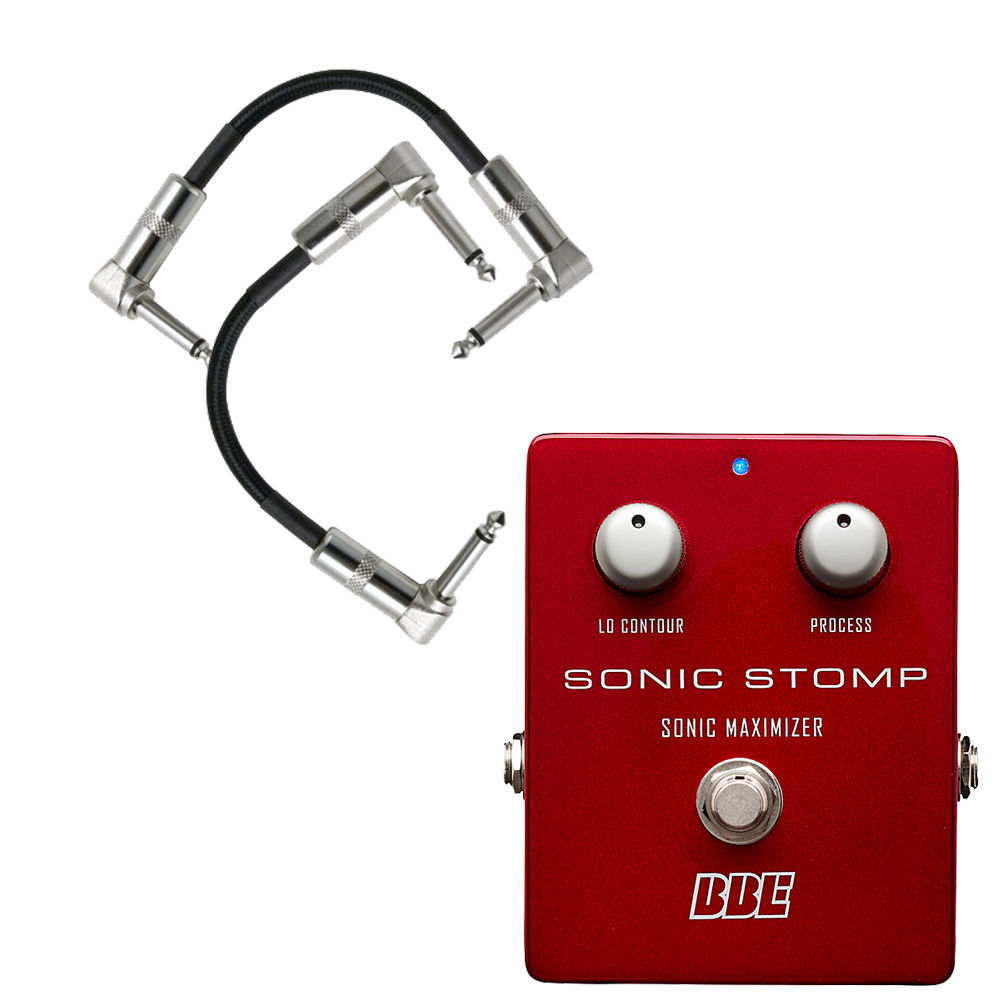 "BBE Sonic Stomp SS-92 Maximizer Stomp Box Guitar Pedal w  2 6"" Patch Cords by BBE"