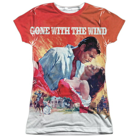 Gone With The Wind Poster  Front Back Print  Juniors Sublimation Shirt