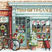 "Gold Collection Petite Toy Shoppe Counted Cross Stitch Kit, 6"" x 6"" 18 Count"