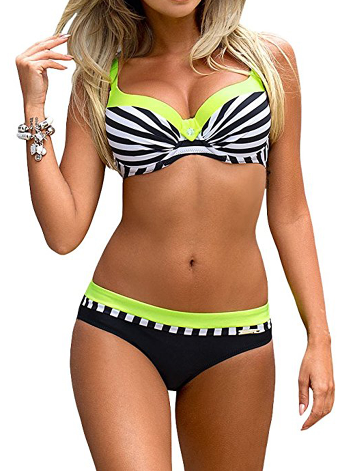 ESPRLIA Womens Plus Two Piece Tankini with Shorts Double Up Swimwear Bathing Suit Swimsuits
