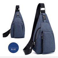 Men Oxford Cloth Chest Bag Sports Outdoor Leisure Multi-function Bag