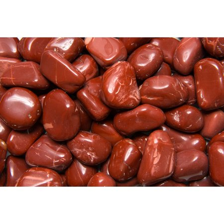 Fantasia Crystal Vault: 1/2 lb High Grade Red Jasper Tumbled Stones - XLarge - 1.5