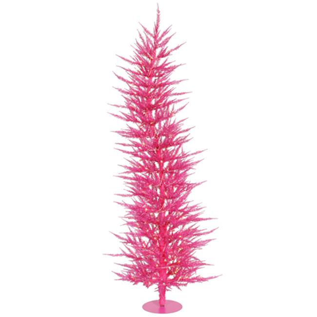 Northlight Seasonal 30868078 Pre-Lit Sparkling Whimsical Pink Artificial Christmas Tree - Clear Lights