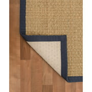 Natural Area Rugs Lancaster Hand-Knotted Navy Indoor Area Rug