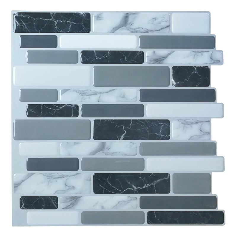 "Art3d 6-Pack Marble Peel and Stick Backsplash Tiles 12""x1..."