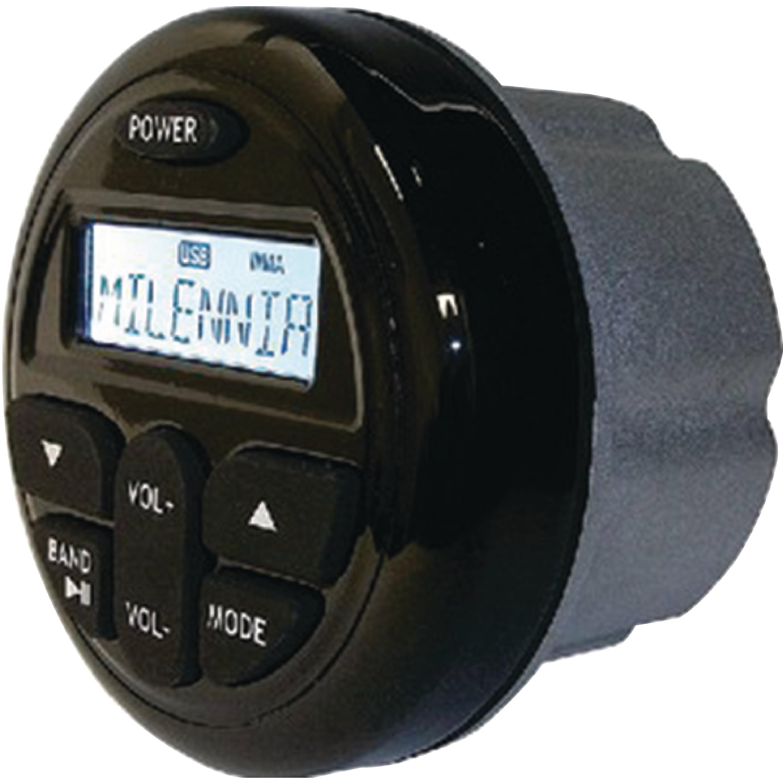 Milenia MIL-PRV17 PRV17 AM/FM/USB/Aux 45 Watt Round Gauge Style Marine Stereo