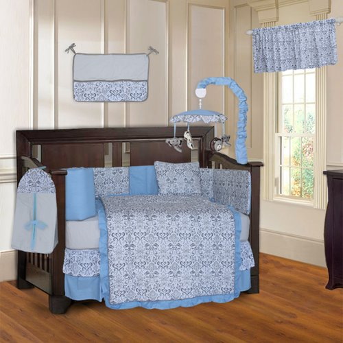 Harriet Bee Carter Damask 10 Piece Crib Bedding Set