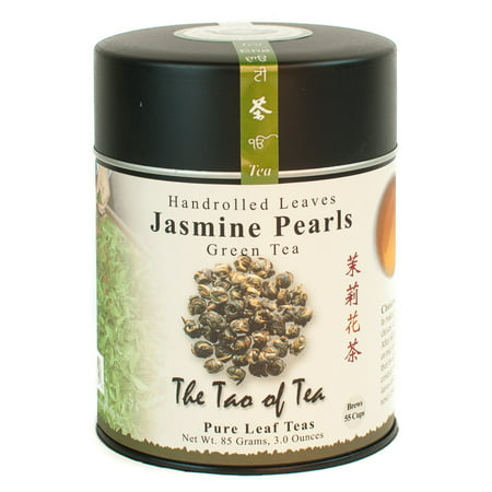 The Tao of Tea, Jasmine Pearls Tea, Loose Leaf Tea, 3 Oz Tin (Lemon Loose Leaf Tea)