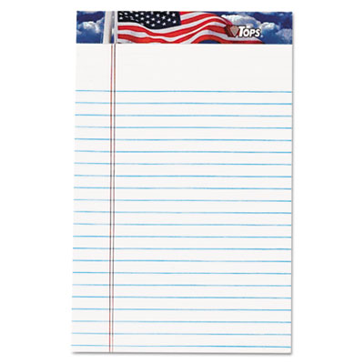 American Pride Writing Pad, Narrow, 5 x 8, White, 50 SHeets, Dozen, Sold as 1 Package, 12 Pad per Package by