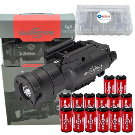 SureFire XH35 1000 Lumen Dual Output LED WeaponLight for Masterfire Holster PLUS 12 extra CR123 batteries and 3 Alliance Gadget battery boxes