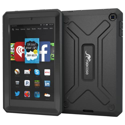 Fire HD 6 Case - roocase Fire HD 6 2014 Hybrid PC / TPU Armor Military Case with Front Cover Built-in Screen Protector for Amazon Fire HD 6 Tablet