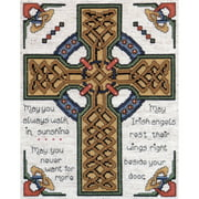 """Tobin Celtic Cross Counted Cross Stitch Kit, 8"""" x 10"""", 14 Count"""
