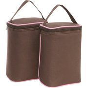 JL Childress 2-Bottle TwoCOOL Baby Bottle Cooler Bag, Cocoa   Pink by JL Childress
