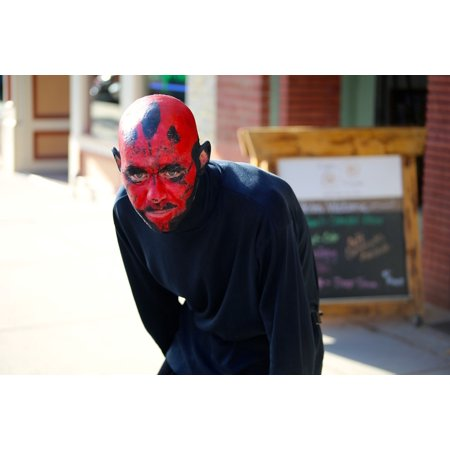 Canvas Print Costume Star Wars Man Darth Maul Devil Evil Stretched Canvas 10 x - Darth Maul Devil