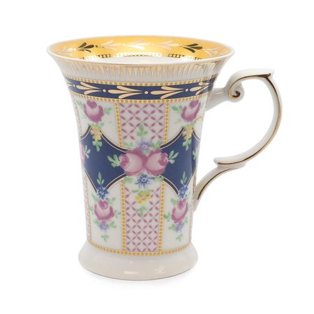 Royalty Porcelain Tea Mug, Fine Bone China Porcelain, 24K (Fine Bone China Tea Set)