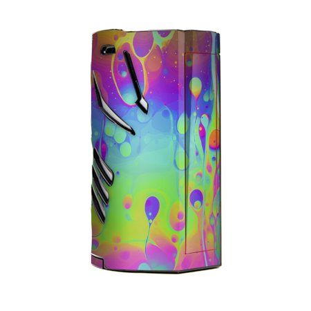 Skin Decal Vinyl Wrap for Smok T-Priv 3 Kit 300w TC Vape skins stickers cover / trippy tie die colors dripping (Tying A Thread Around A Skin Tag)