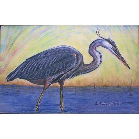Blue Heron 30x50 Door Mat