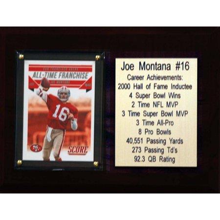 C&I Collectables NFL 6x8 Joe Montana San Francisco 49ers Career Stat