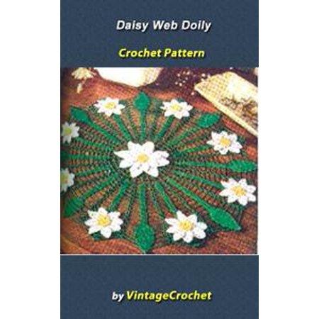 Daisy Web Doily Vintage Crochet Pattern eBook - eBook