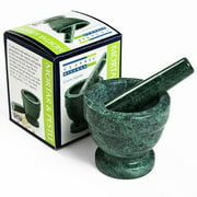 Green Marble Mortar and Pestle (1.75 pound)