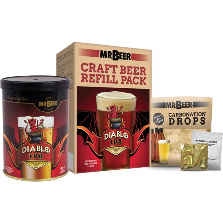 Mr. Beer Diablo IPA Craft Beer Refill Kit, Contains Hopped Malt Extract Designed for Consistent, Simple and Efficient (Best Ipa Craft Beer)