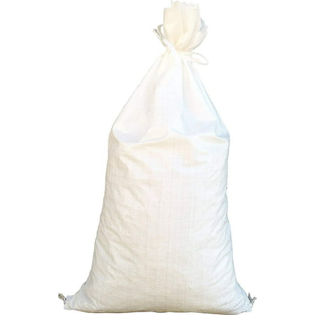 """Sandbags for Flooding - Size: 18"""" x 30"""" - Color: White - Sand Bag - Flood Water Barrier - Water Curb - Tent Sandbags - Store Bags by Sandbaggy (25 Bags)"""