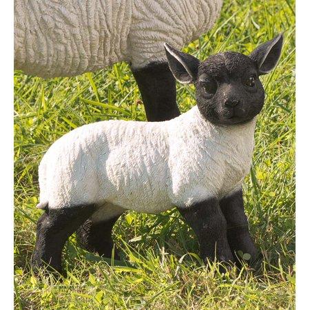 Plow & Hearth Standing Lamb Suffolk Sheep Garden