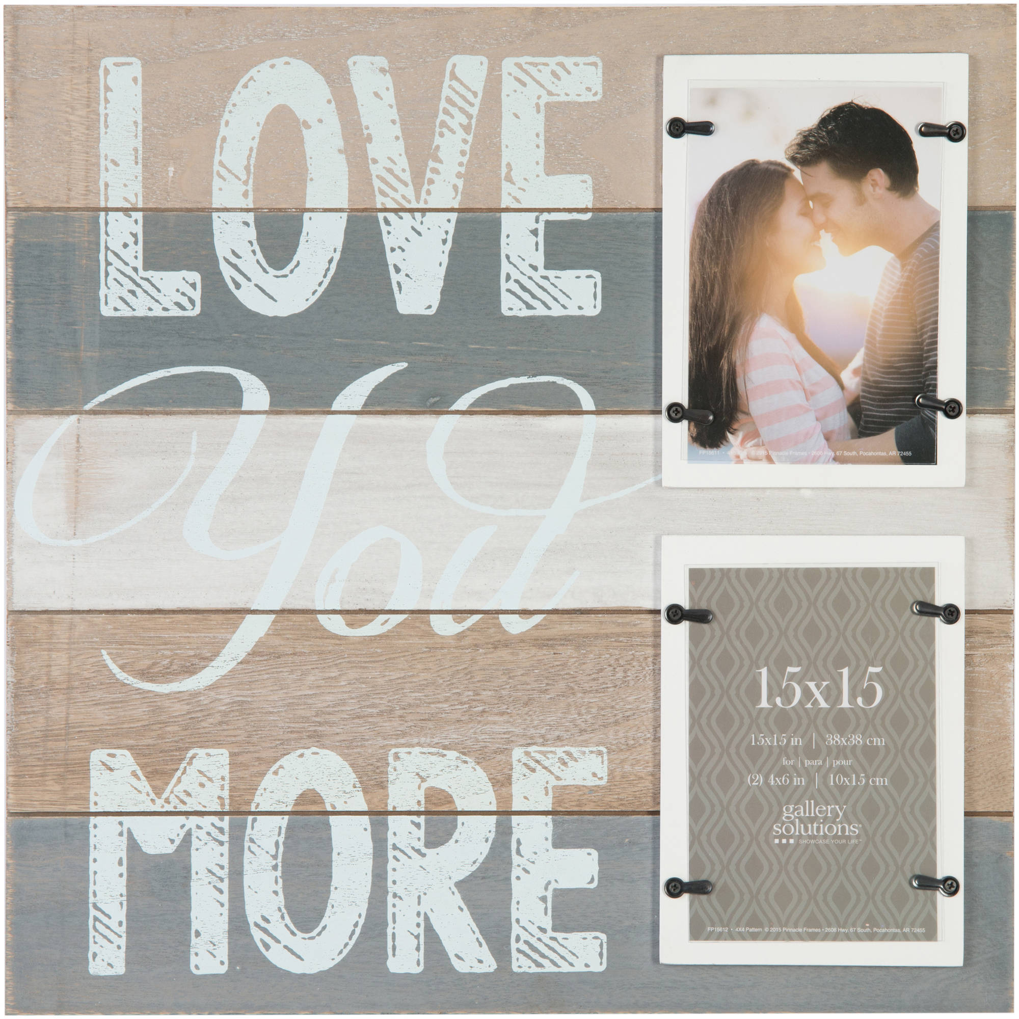 Wall decor picture frame home decor love you more frame with 2 4x6 perfect jeuxipadfo Choice Image