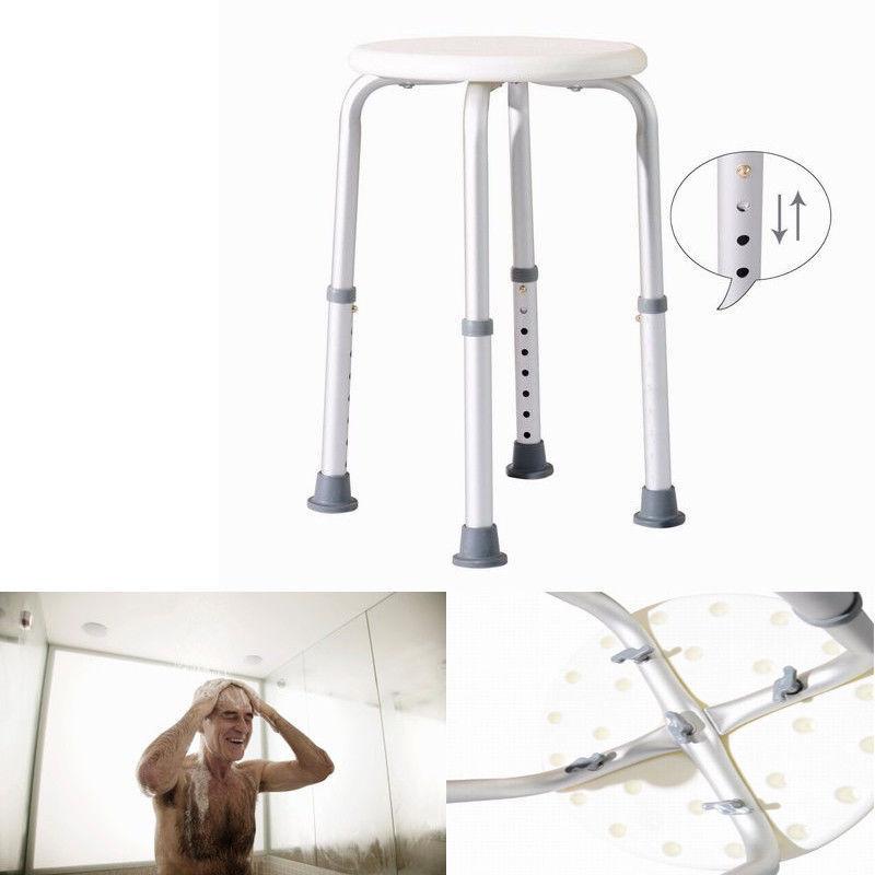 Ktaxon Bathtub Adjustable Shower Chair Seat Bench 7 Adjustable Heights White