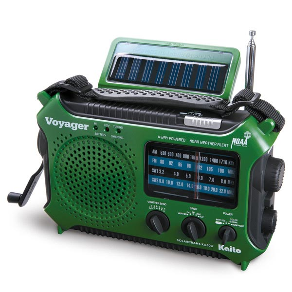 4-Way Powered Emergency Weather Alert Radio With Cell Pho...