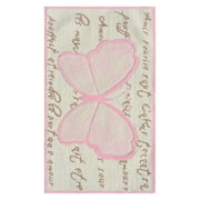 The Rug Market French Butterfly Area Rug, 2.8' x 4.8'