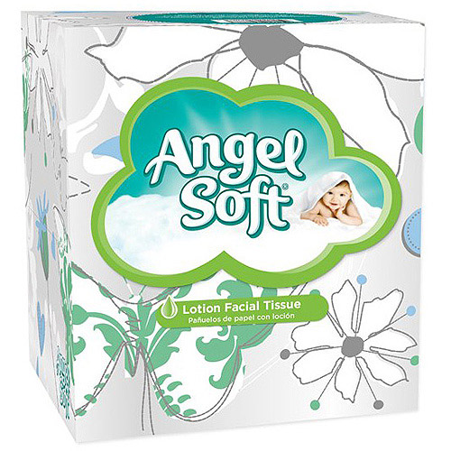 Angel Soft Lotion Facial Tissue, White, 65ct. each