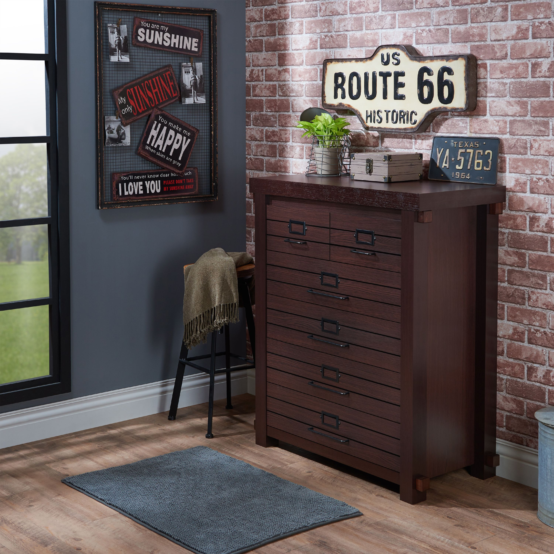 Furniture of America Aster Bedroom Chest, Espresso