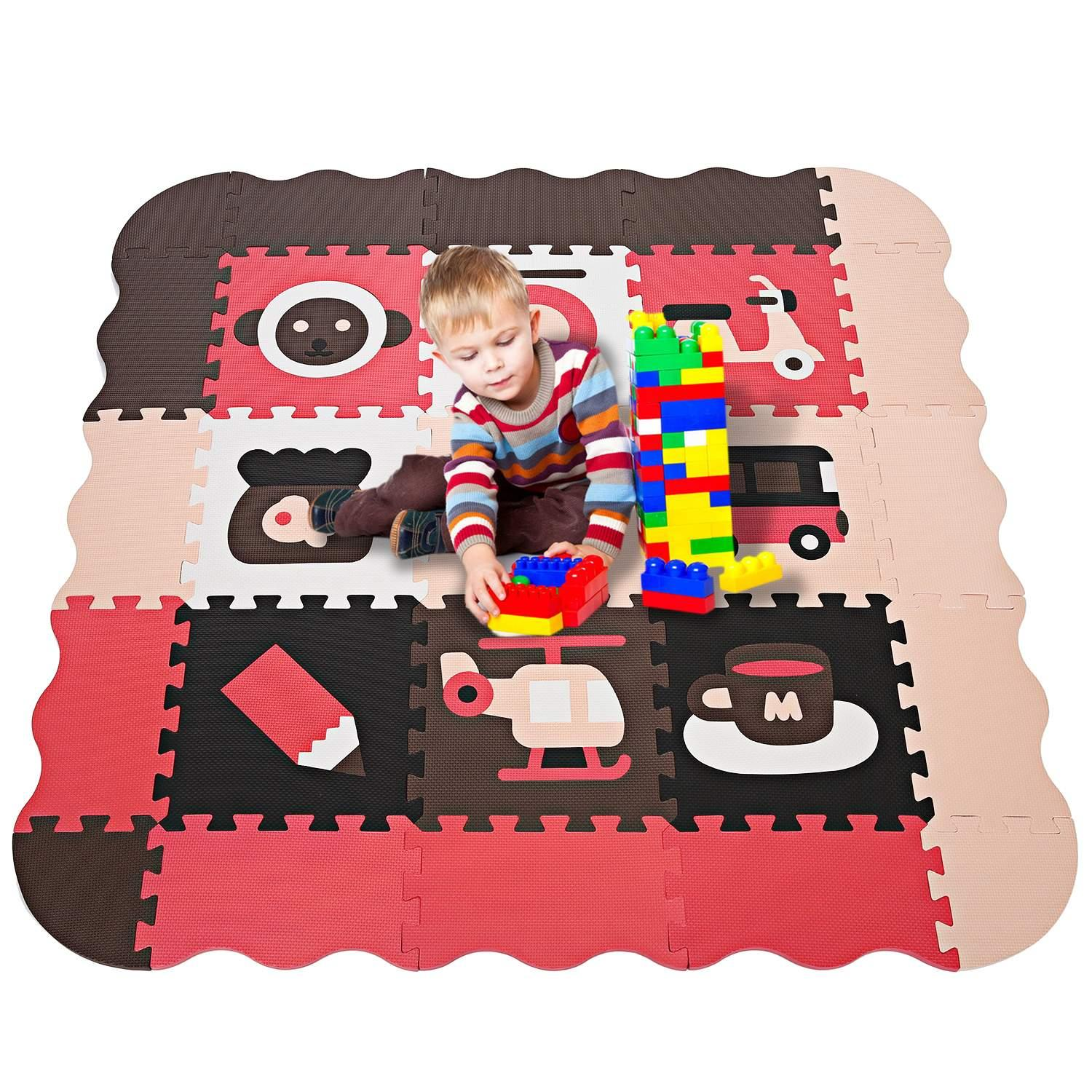 Baby Kids Play Mat Picnic Cushion Crawling Mat with Two Sides Playing Activity Pad HITC