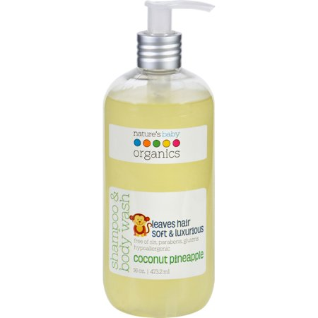 Natures Baby Organics Shampoo   Body Wash Coconut Pineapple  16 0 Oz