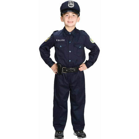 Police Officer Child Halloween Costume S - Maquillaje De Halloween