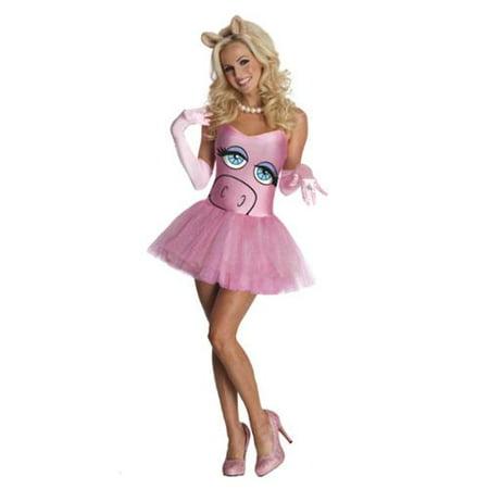 Adult's Womens  Muppets Elegant Miss Piggy Dress Costume - Miss Piggy Adult Costume