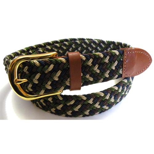 "Men's Navy Mix Woven Stretch Belt 2X Large 46"" - 48"""
