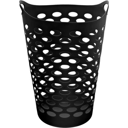 Mainstays Black Flexible Laundry Hamper