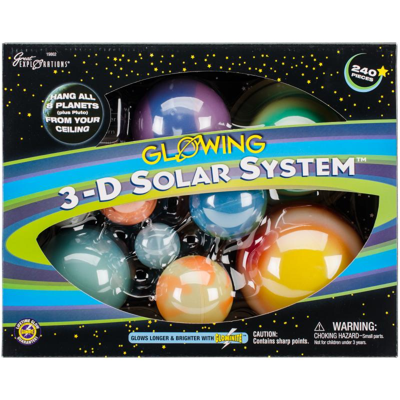 Glow-in-the-Dark, 3-D Solar System
