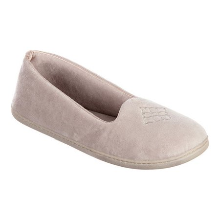 Women's Microfiber Velour Closed Back Slippers