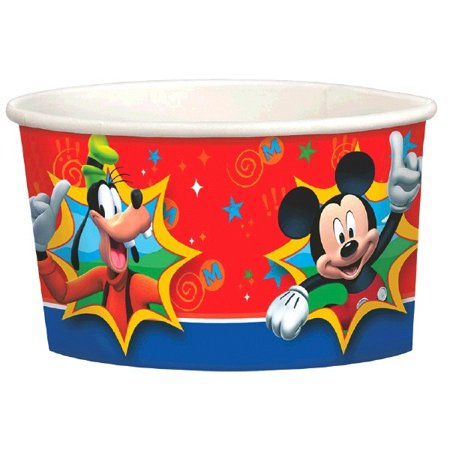 Mickey Mouse 'Fun and Friends' Ice Cream Cups (8ct) - Dry Ice For Halloween Party Uk