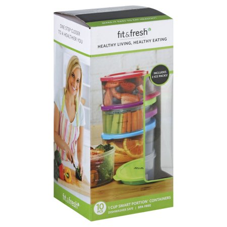 Fit & Fresh 1 Cup Smart Portion Containers, 10 - Treat Tote 1 Cup